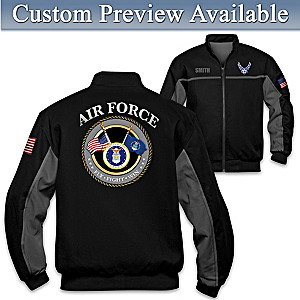 """""""Air Force Salute"""" Bomber-Style Jacket With Embroidered Name"""