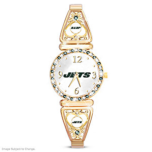 """My Jets"" Ultimate Fan Women's Wristwatch"