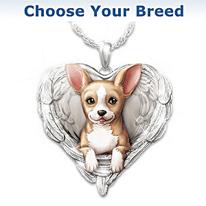 """Dogs Are Angels"" Pendant Necklace: Choose Your Breed"