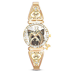 """Forever Faithful"" Yorkie Lover Women's Watch"