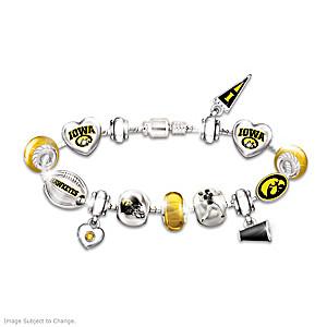 Hawkeyes Charm Bracelet With Swarovski Crystals