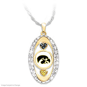 """For The Love Of The Game"" Iowa Hawkeyes Pendant"