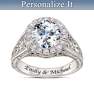"""I Love You More"" Personalized Topaz Women's Ring"