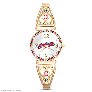 """My Indians"" Ultimate Fan Women's Wristwatch"