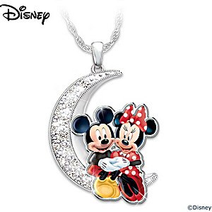 "Disney ""I Love You To The Moon And Back"" Pendant Necklace"