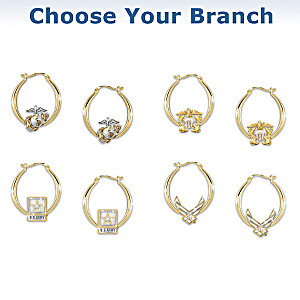 U.S. Military Pride Engraved Earrings: Choose Your Branch