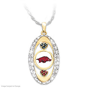 """For The Love Of The Game"" Arkansas Razorbacks Pendant"