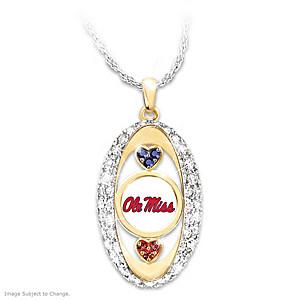"""For The Love Of The Game"" Mississippi Rebels Pendant"