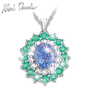 "Alfred Durante ""Opal Island"" Pendant Necklace"
