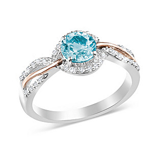 """Dream"" Aquamarine And White Topaz Ring"