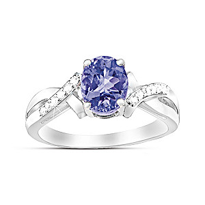 """Treasure"" Tanzanite And White Topaz Ring"