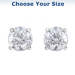 Brilliant Elegance Diamond Earrings: Choose A Carat Weight