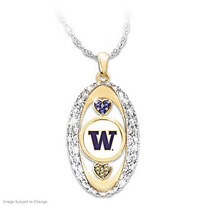 """For The Love Of The Game"" Washington Huskies Pendant"