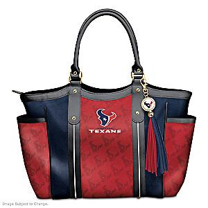 """Touchdown Texans!"" Designer Style Shoulder Tote"
