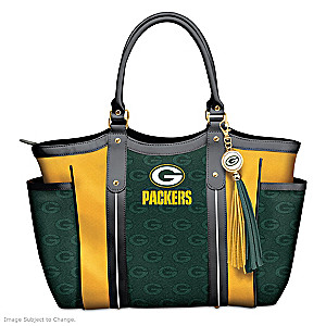 """Touchdown Packers!"" Designer Style Shoulder Tote"