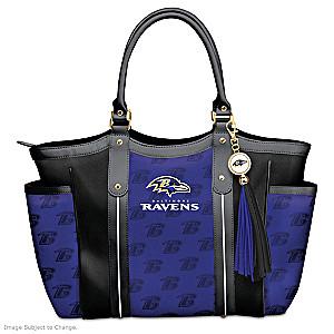 """Touchdown Ravens!"" Designer Style Shoulder Tote"