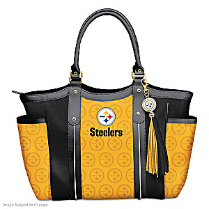 """Touchdown Steelers!"" Designer Style Shoulder Tote"