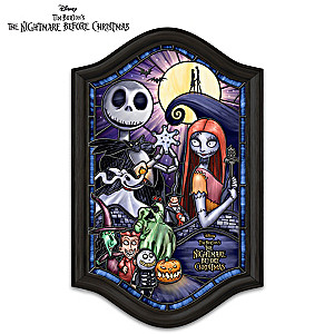 The Nightmare Before Christmas Stained-Glass Wall Decor