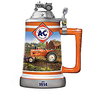Allis-Chalmers Porcelain Collector Stein With Tractor Images