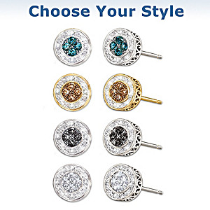 """All That Glamour"" Diamond Earrings: Choose From 4 Colors"