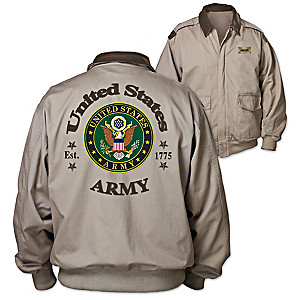 """Army Forever"" Men's Twill Jacket"