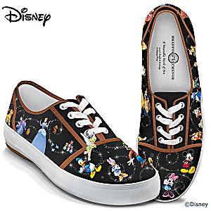 """Disney Magic"" Women's Canvas Shoes With Character Art"