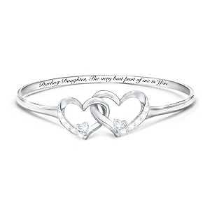 """""""Best Part Of Me"""" Diamond And Topaz Bracelet For Daughters"""
