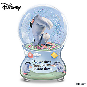 "Disney ""Some Days Look Better Upside Down"" Glitter Globe"