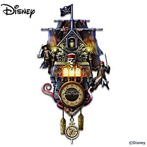 Disney Pirates Of The Caribbean Illuminated Wall Clock