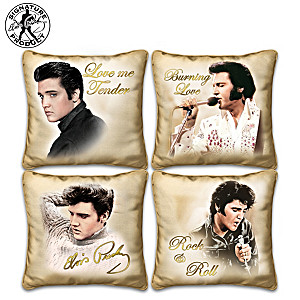 Elvis Presley Golden Moments Four Pillow Collection