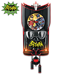 BATMAN Classic TV Series BATMOBILE Clock: Lights And Music