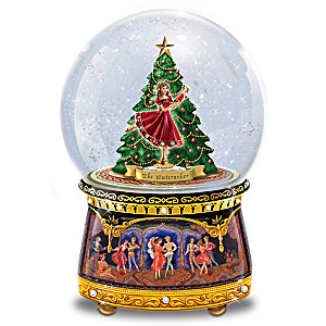 Nutcracker Musical Glitter Globe With Spinning Clara