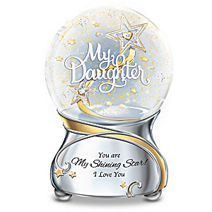Daughter, You're My Shining Star Illuminated Glitter Globe