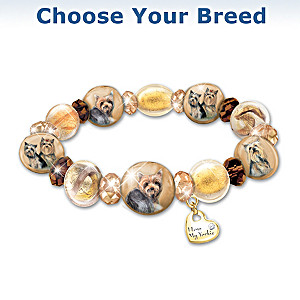 """Reflections Of Love"" Dog Art Bracelet: Choose Your Breed"
