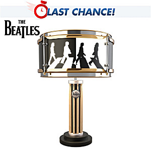 """The Beatles """"Abbey Road"""" Drum Table Lamp With Album Graphic"""