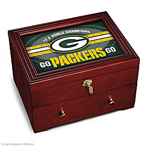 Green Bay Packers Custom-Crafted Wooden Keepsake Box