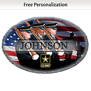 U.S. Army Outdoor Welcome Sign Personalized With Family Name