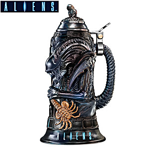 "Aliens Xenomorph Stein With Sculpted ""Chest Burster"" Topper"