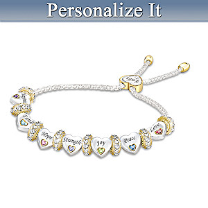 Heartfelt Wishes For My Daughter Bracelet With Engraved Name