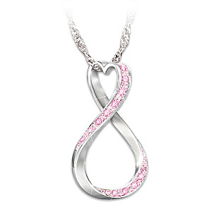 """Forever Hope"" Breast Cancer Awareness Pendant Necklace"