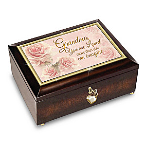 """Grandma You Are Loved"" Music Box With Poem Card"