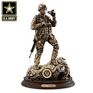 """U.S. Army Pride"" Cold-Cast Bronze Soldier Sculpture"