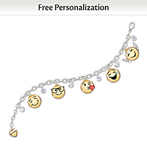A Message Of Love Personalized Granddaughter Emoji Bracelet