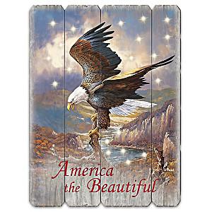 "Ted Blaylock ""America The Beautiful"" Illuminated Wall Decor"