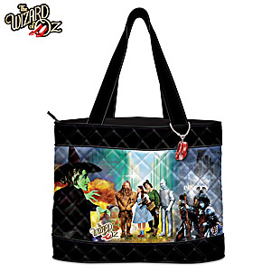 THE WIZARD OF OZ Women's Tote Bag With RUBY SLIPPERS Charm