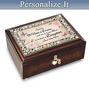 My Daughter, You're A Dream Come True Personalized Music Box