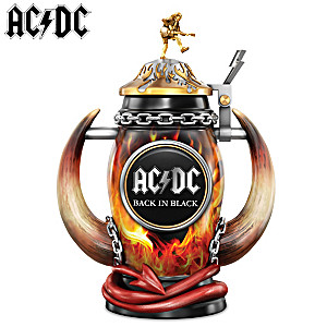 "AC/DC ""Red Hot Rock"" Back In Black Tribute Stein"