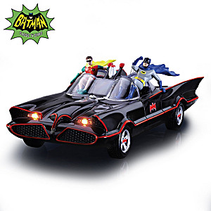 BATMAN TV Series BATMOBILE Sculpture With Lights And Music