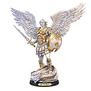 """""""St. Michael: Victorious"""" Cold-Cast Marble Sculpture"""