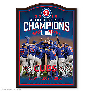Chicago Cubs 2016 World Series Champions Wall Plaque